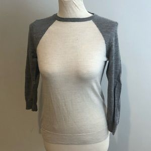J crew merino wool gray sweater S
